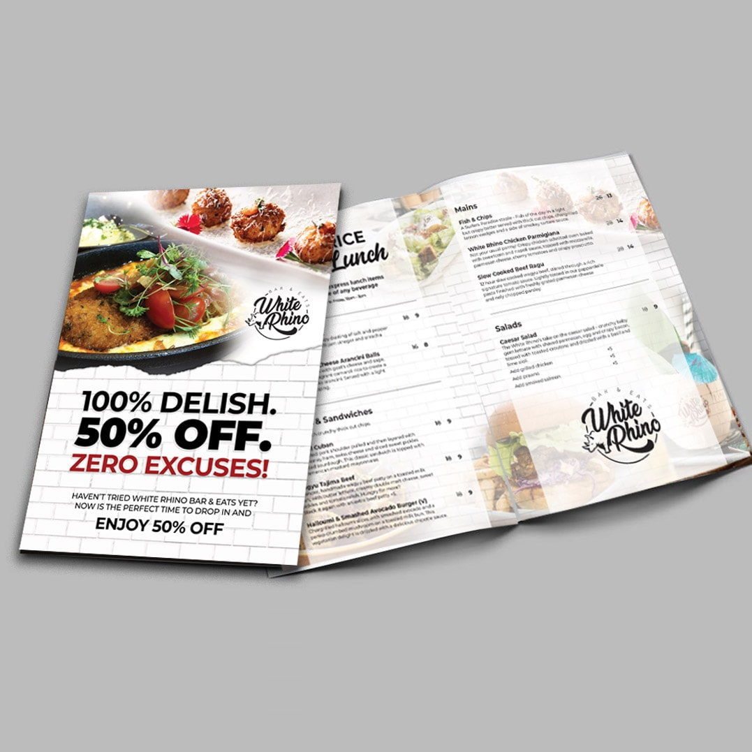 Menu and Brochure - Hospitality Graphic Design